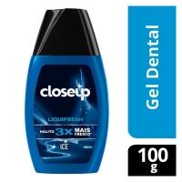 2 Unidades Creme Dental Em Gel Close Up Liquifresh Ice 100g