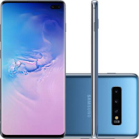 "Smartphone Samsung Galaxy S10+ 128GB Dual Chip 8GB RAM Tela 6.4"" + Galaxy Watch Active"