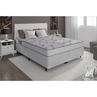 Cama Box Queen Size Herval Sellect + Colchão Ortobom Light 53x158x198cm