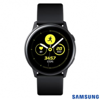 Galaxy Watch Active Samsung Preto 28 mm Pulseira de Silicone Bluetooth NFC e 4GB - SM-R500NZKAZTO