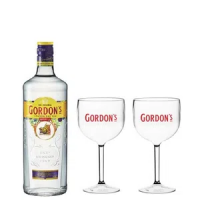 Combo Gordon's 750ml + 2 Taças Gordon's - Combo Gordon's 750ml + 2 Taças Gordon's