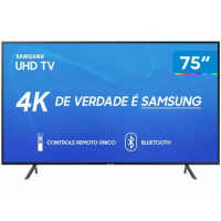 "Smart TV 4K LED 75"" Samsung UN75RU7100 - Wi-Fi Bluetooth HDR 3 HDMI 2 USB"