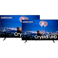 [AME por 5.209,99] Kit Smart TV 65'' Samsung 4K Crystal UHD UN65TU8000GXZD + Smart TV 50'' Samsung 4K Crystal UHD UN50TU8000GXZD