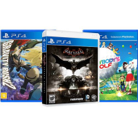 [AME por 49,99] Jogo Batman Arkham Knight + Gravity Rush 2 + Everybody's Golf - PS4
