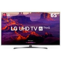 "Smart TV LED UHD 4K 65"" LG 65UK6540 4 HDMI 2 USB Wi-Fi ThinQ AI webOS 4.0"