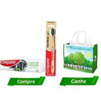 [Marketplace] Kit Creme Dental Colgate Natural Extracts Purificante 90g+ Escova Dental Bamboo + Sacola Ecológica