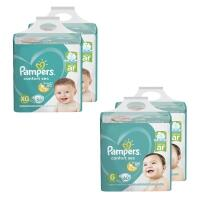 Kit de Fraldas Pampers Confort Sec Super 236 Unidades - 120 G e 116 XG