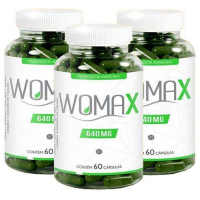 [AME por 88,95] [Marketplace] Womax Emagrecedor Quitosana E Colágeno 60 Cápsulas 640mg Kit Com 3