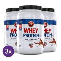 Kit 3x Whey Protein Pré Midway 1kg - Chocolate
