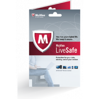 1 Ano McAfee LiveSafe - ADT Security Edition