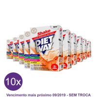 Kit 10x Diet Way Shake Substituto de Refeição 420 g - Midway