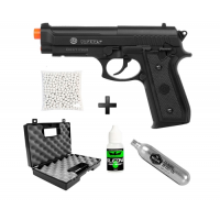 Kit pistola de Airsoft CO2 Cybergun Taurus PT 92 Nylon + Maleta + Co2 + 500bbs + Silicone