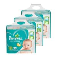 Kit de Fraldas Pampers P Confort Sec Super - 222 Unidades