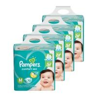 Kit de Fraldas Pampers M Confort Sec Super - 280 Unidades