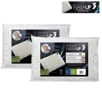 Kit com 2 Travesseiro Fibrasca Nasa Up3 Visco - Branco