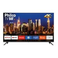 "Smart TV LED 50"" Philco  PTV50G70SBL Ultra HD 4K Borda Infinita Áudio Dolby 4 HDMI 2 USB Netflix e Aplicativos nas Lo"