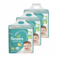 Kit de Fraldas Pampers Confort Sec Super - P, M, G, XG, XXG