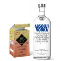 Vodka Absolut Regular 1L + Preparo para Moscow Mule Easy Drinks