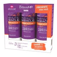 Kit Creme de Tratamento Aussie 3 Minute Miracle Smooth Leve 3 Pague 2