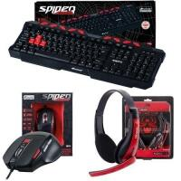 [Market Place] Kit Gamer C/ Teclado + Mouse + Headset Spider Fortrek