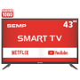 Smart TV LED 43 Full HD Semp L43S3900FS 2 HDMI 1 USB Wi-Fi Conversor Digital
