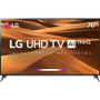 Smart TV LED 70 4K LG 70UM7370 3 HDMI 2 USB Wi-Fi Bluetooth