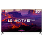 Smart TV LED 50 Ultra HD 4K LG 50UK6520PSA com Inteligência Artificial ThinQ AI, WI-FI, Processador Quad Core, HDR