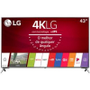 "Smart TV LED 43"" Ultra HD 4K LG 43UJ6525 com Conversor Digital 4 HDMI 2 USB WebOS 3.5 Wi-Fi Integrado -Eletrônicos"