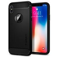 Capa para iPhone X/XS Spigen Rugged Armor 057CS22125 Matte Black