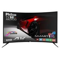 [Cartão Carrefour] Smart TV LED 55 Philco PH55A16DSGWA UHD 4K 3 HDMI 2 USB Preta com Conversor Digital Integrado