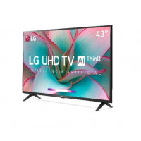 Smart TV Led 43'' LG 43UN7300 Ultra HD 4K Inteligência Aritificial Conversor Digital Integrado 3 HDMI 2 USB Wi-Fi Bluetooth Google