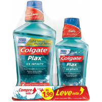 Enxaguante Bucal Colgate Plax Ice Infinity 500ml - Leve 500Ml Pague 250Ml