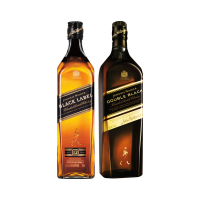 [SP] Whisky Johnnie Walker Double Black 1L + Whisky Black Label 750ml