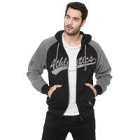 Moletom Flanelado Aberto Broken Rules Athletics Preto/Cinza